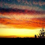 Miércoles mudo: Amanecer desde mi balcón